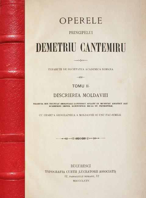 Operele principelui Demetriu Cantemiru (1875) - Dimitrie Cantemir