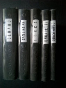 Eluard, Apollinaire, Lorca, Ungaretti, Quasimodo - Cele mai frumoase poezii (5 volume, editie bilingva)