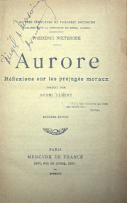 Aurore - Frédéric Nietzsche