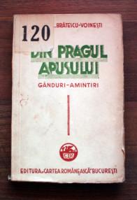 Din Pragul Apusului (editia princeps