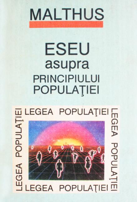 Eseu asupra principiului populatiei - Malthus