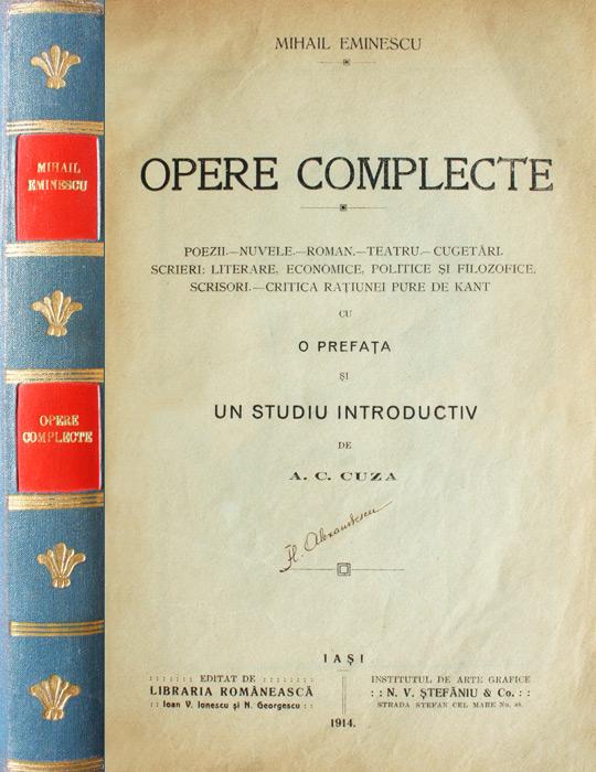 Opere complecte (editia princeps A.C. Cuza