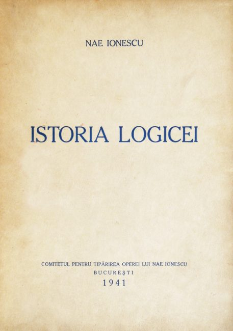 Istoria logicei (editia princeps
