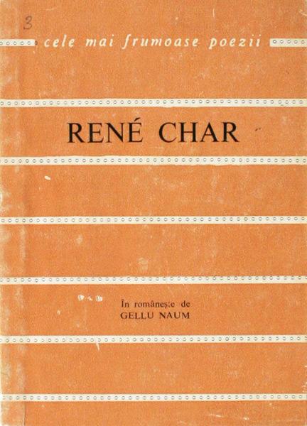 Poeme alese - Rene Char