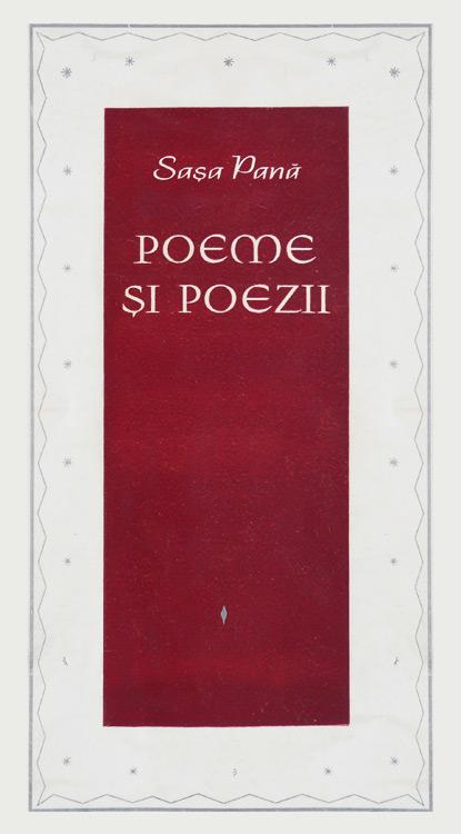 Poeme si poezii alese din carti si din sertar (1925-1965) (avangarda