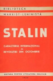 Caracterul international al revolutiei din octombrie - I.V. Stalin