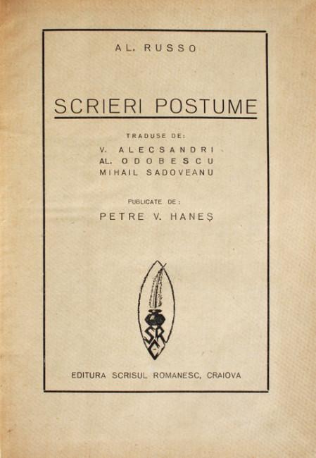 Scrieri postume (1938) - Alecu Russo