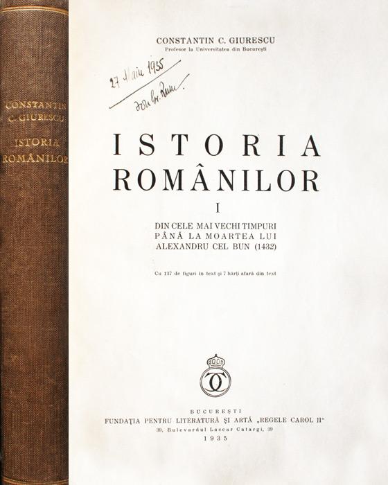 Istoria romanilor (editia princeps