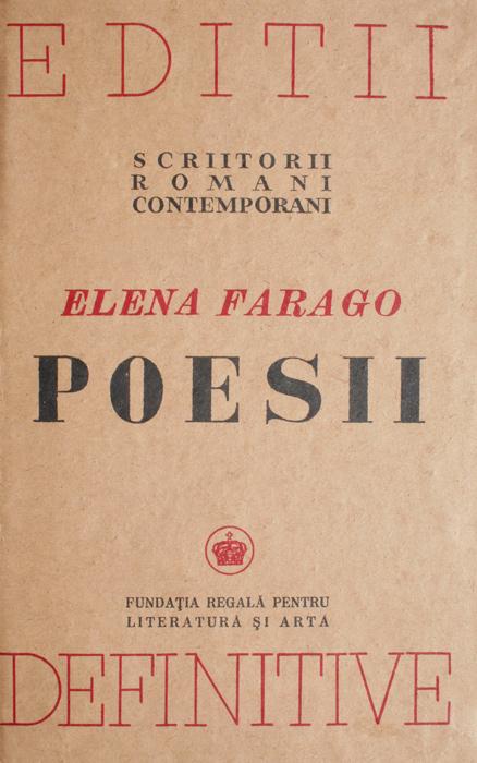 Poesii - Elena Farago