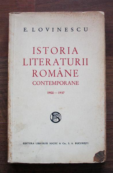 Istoria Literaturii Romane Contemporane (editia princeps