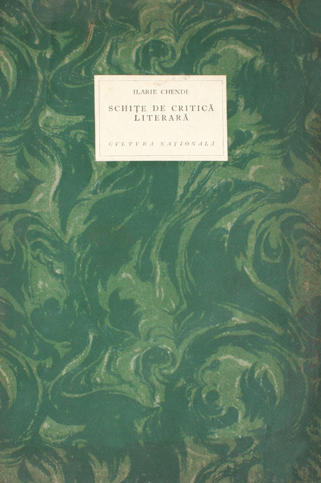Schite de critica literara (editia princeps