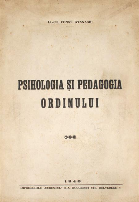 Psihologia si pedagogia ordinului (editia princeps
