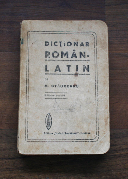 Dictionar Roman-Latin - M. Staureanu