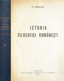 Istoria filosofiei romanesti (1941) - N. Bagdasar