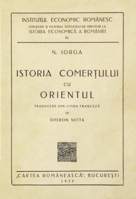 Istoria comertului cu Orientul (editia princeps