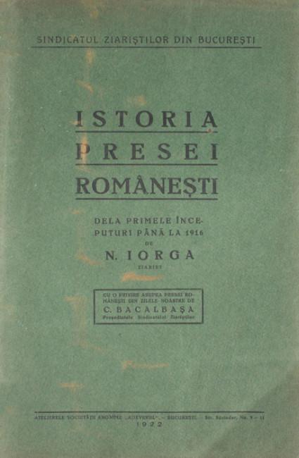 Istoria presei romanesti (editia princeps