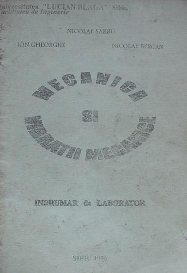Mecanica si vibratii mecanice - Nicolae Sarbu