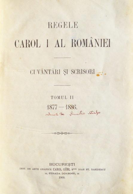 Regele Carol I al Romaniei - Cuvântări și scrisori (1877-1886)