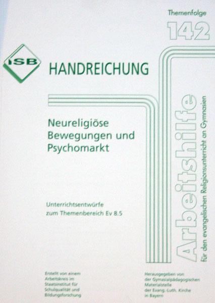 Handreichung - Neureligiose Bewegungen und Psychomarkt - ***